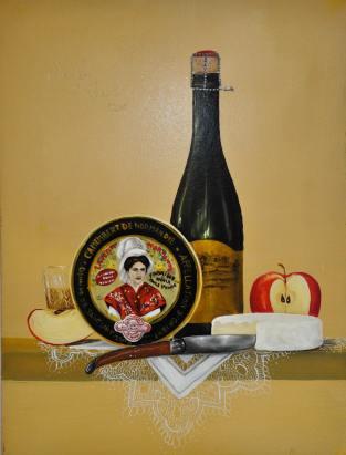 Exposition Jovelin au Bec Hellouin - peinture à l'huile